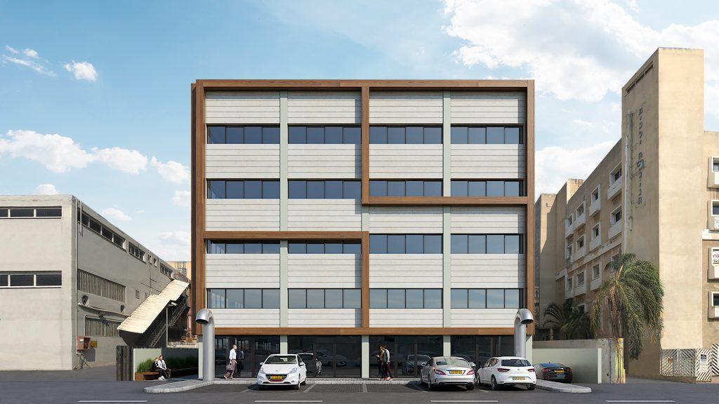 חזית הבניין - הדמיה